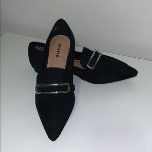 Justfab Terri Loafer in Black- Size 8